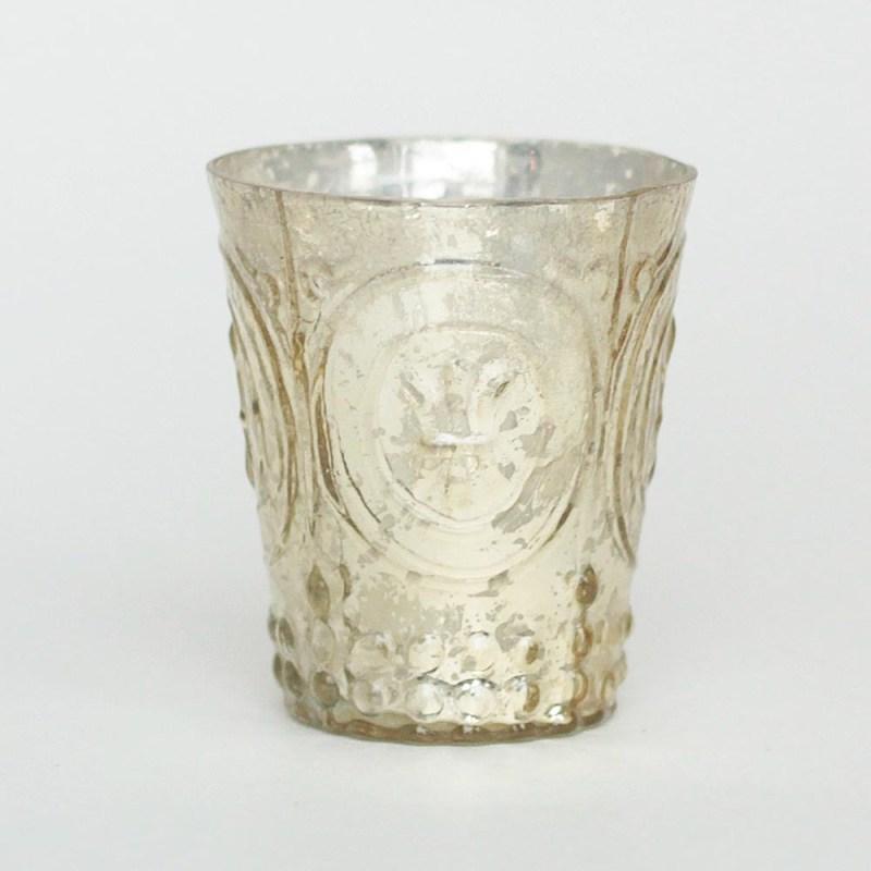 Large Of Mercury Glass Votives