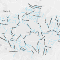 Map of London Rivers