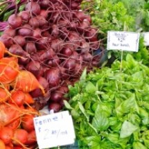 thumbs beets and basil University Farmers Market Early Fall 2011