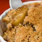 Spring Rhubarb and Apple Crisp with Toasted Hazelnut Streusel