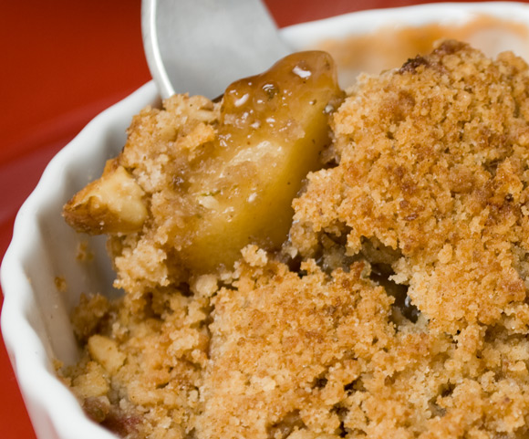 rhubarb and apple crisp with fork Fresh Rhubarb Roundup  