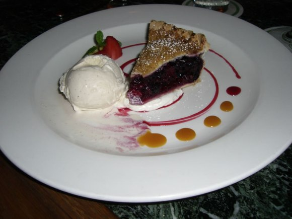 Lahaina Grill Raspberry Blueberry Black Currant Pie with Whipped Cream Maui Sweet