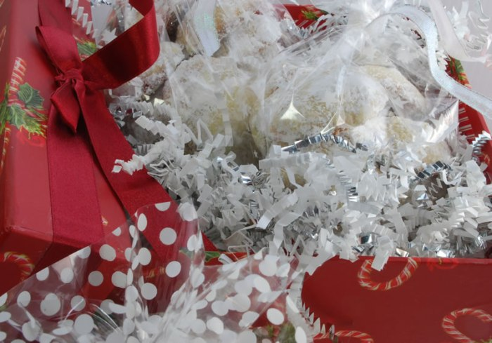Decidedly Lemon Teacakes in a red gift box