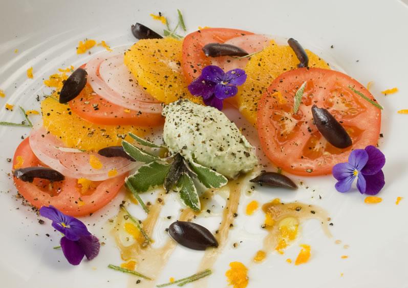 Indian Summer Tomato, Orange & Sweet Onion Salad