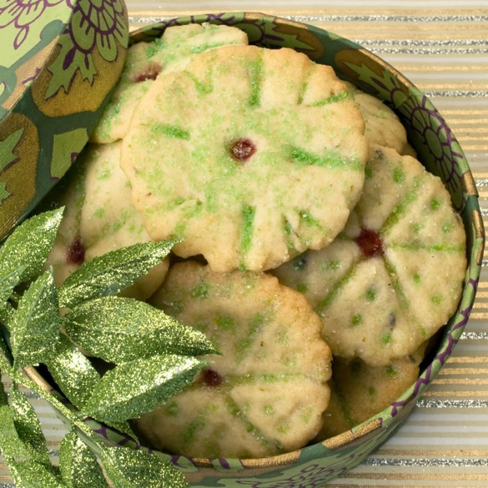 Box of Heavenly Brown Butter, Lavender & Lime Cookies