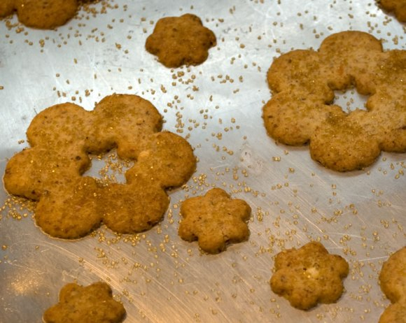 Freshly baked Sweet Parmesan Almond Cookies