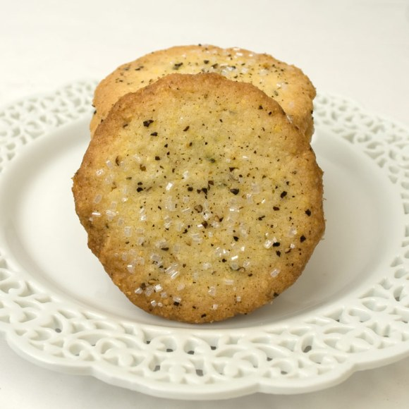 Solo on a plate Cornmeal, Black Pepper & Rosemary Butter Cookies
