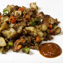 The Best Damn Hash with Dulcet Peppery Moroccan Ketchup