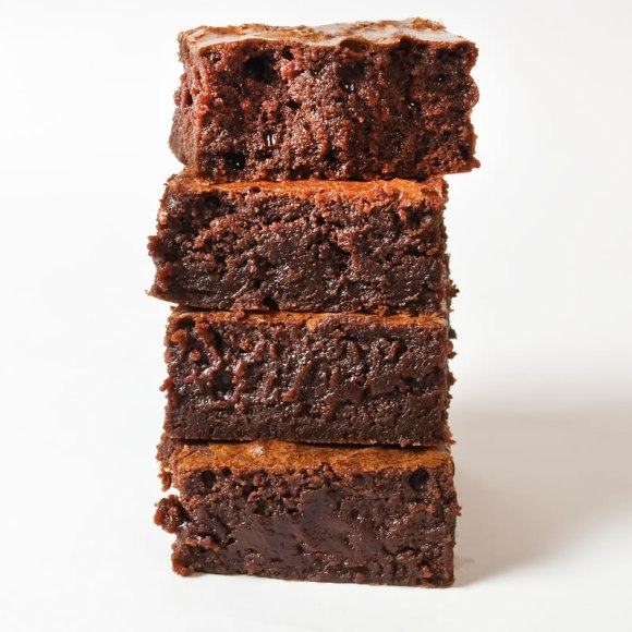 Fudgie Brownie Stack LunaCafe OtherWorldly Silky Fudgy Brownies