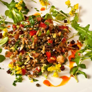 Northwest Early Spring Farro & Lentil Salad