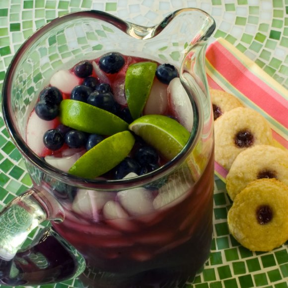 Pitcher with cookies Blueberry Lavender Limeade