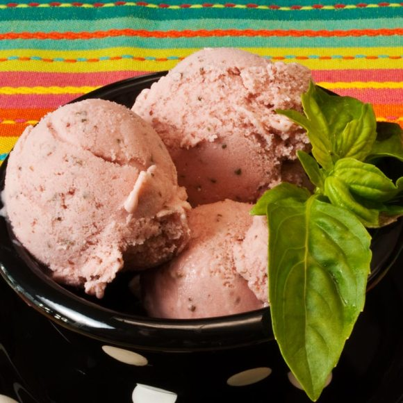 Bowl of gelatto 2 Fresh Strawberry Roundup