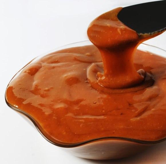 Heated peanut butter caramel sauce Peanut Butter Caramel