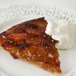 Caramelized Apple Cider Tart, Slice on Dessert Plate