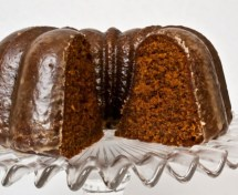 Spicy Gingerbread Cake with Coffee Glaze