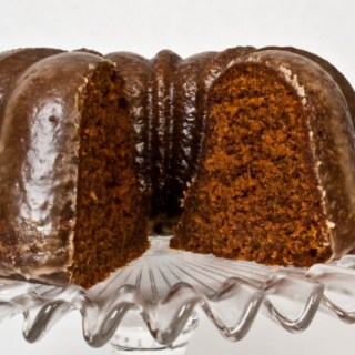 Deep, Dark, Spicy Gingerbread with Coffee Glaze