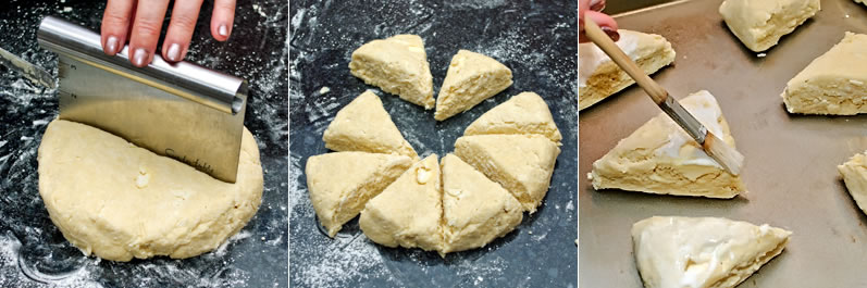 Shaping scones