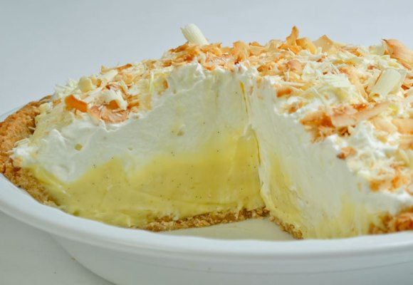 Whole pie 1 Rosalyn's Toasted Coconut White Chocolate Dream Pie