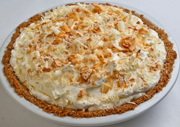 Whole pie 4 Rosalyn's Toasted Coconut White Chocolate Dream Pie