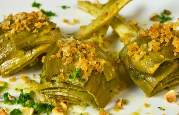 Lemon Thyme Artichokes Ready to Eat Lemon & Thyme Marinated Artichokes with Garlic Bread Crumbs & Toasted Hazelnuts