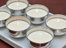 Fresh Chevre Panna Cotta in Metal Molds, Ready to Chill