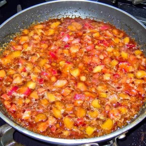 Rhubard and caramel on the stove Rhubarb Rose Petal Caramel Syrup + 4 Variations