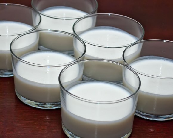 Sour Cream Panna Cotta in Serving Glasses Ready to Chill Mastering Panna Cotta   with Six Variations