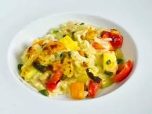 Fennel, Bell Pepper & Summer Squash Creamy Rice Tian