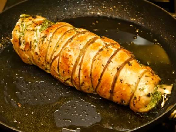 Seared Turkey Roast Dry Cured Breast of Turkey Roulade with Autumn Herbs