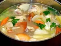 Preparing the Stock for Mulligatawny Soup