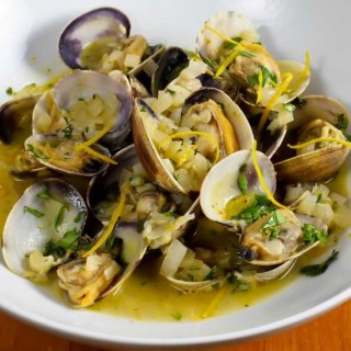 Hood Canal Manila Clams with Spicy Orange Cilantro Butter