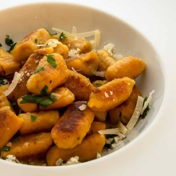 Pumpkin Ricotta Gnocchi with Garlic Sage Brown Butter Pumpkin Ricotta Gnocchi with Garlic Sage Butter