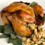 Spiced Apple Cider Brined Roast Cornish Game Hen with Apple Cider Mustard Glaze | LunaCafe