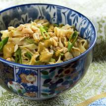 Spicy Thai Peanut Sauce on Noodles