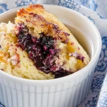Blueberry Lime Pudding Cake
