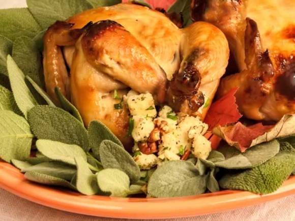 Game Hens on a serving plater1 Thanksgiving Recipe Roundup