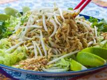 Phad Thai  with Tamarind Sauce, Peanuts & Lime