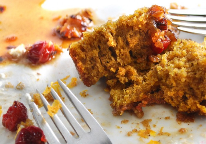Spiced Pumpkin Sour Cream Upside-Down Coffee Cake | LunaCafe