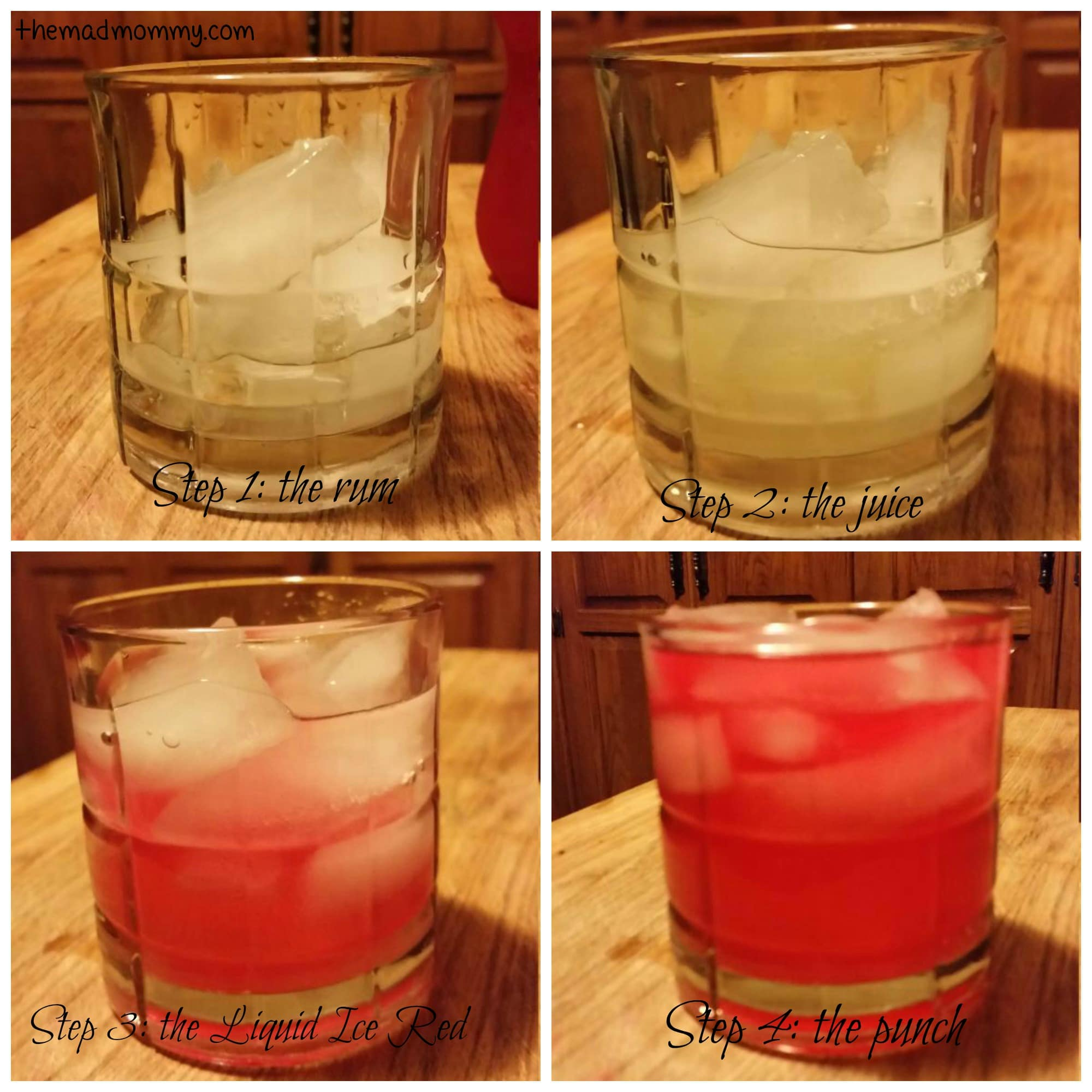 Cocktail with liquid ice red for Liquid ice mixed drinks