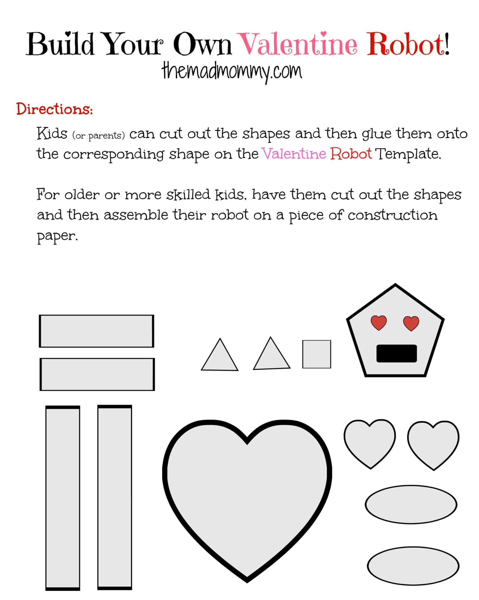 Build Your Own Valentine Robot