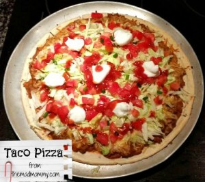 taco pizza from themadmommy.com
