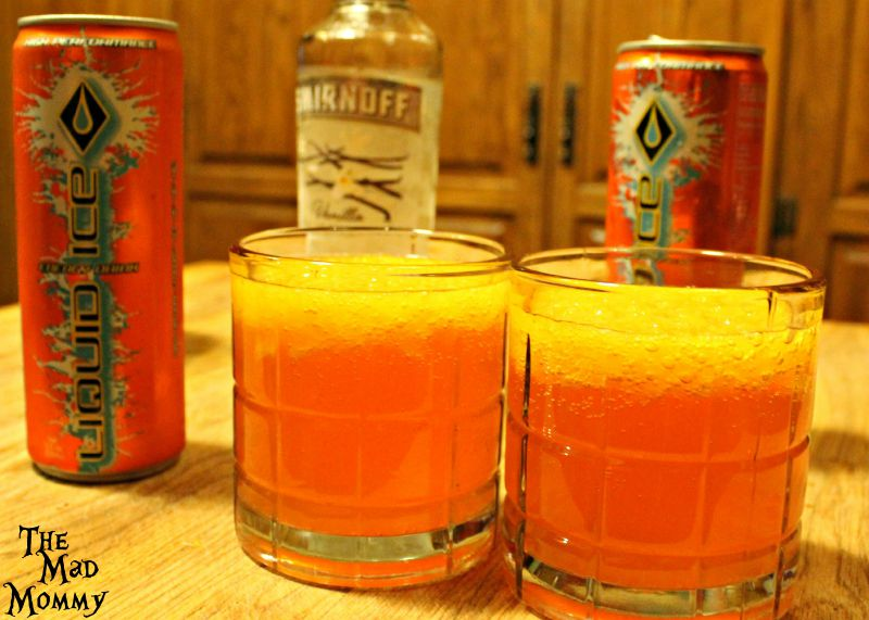 Say goodbye to summer with a vanilla orange krush for Liquid ice mixed drinks
