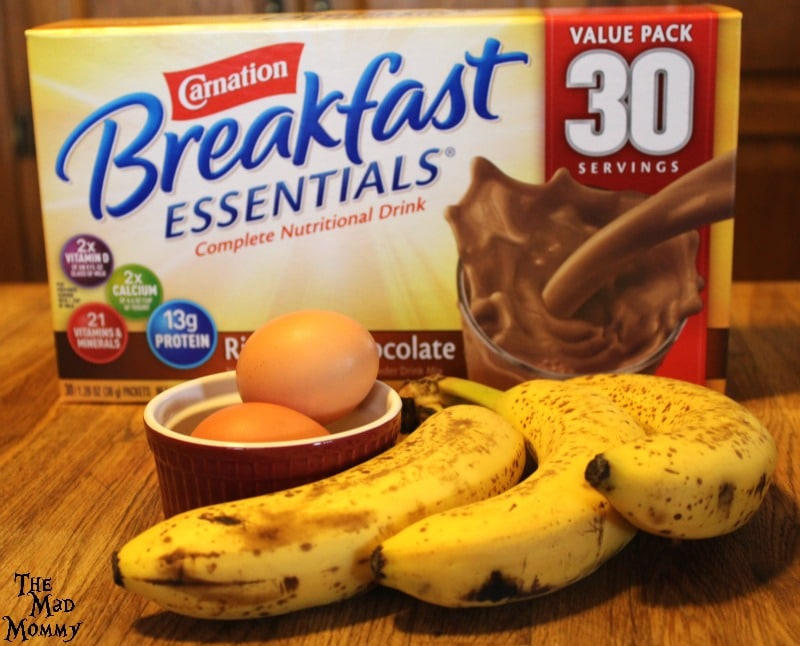 These are the only items that you need to make these 3 ingredient, flour free Chocolate Banana Pancakes! #CarnationSweepstakes #BetterBreakfast #CollectiveBias #AD