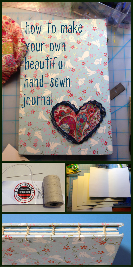 How to make a beautiful hand-sewn hardcover journal using fine papers and linen thread
