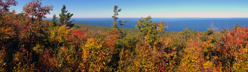 Lake Superior from the Lake Superior Trail in the Porcupine Mountains