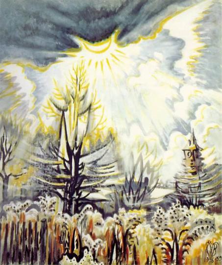 November Sun Emerging, Charles Burchfield