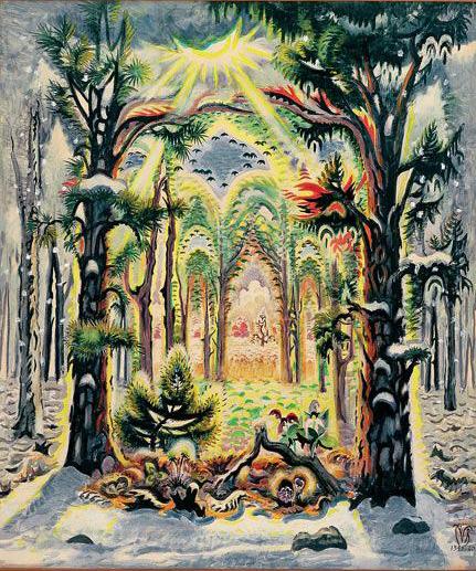 The Four Seasons, Charles Burchfield, 1961-1962