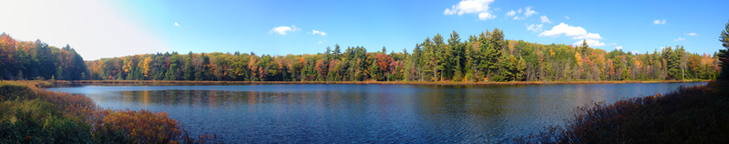 Lost Lake Panorama, Porcupine Mountains, Michigan
