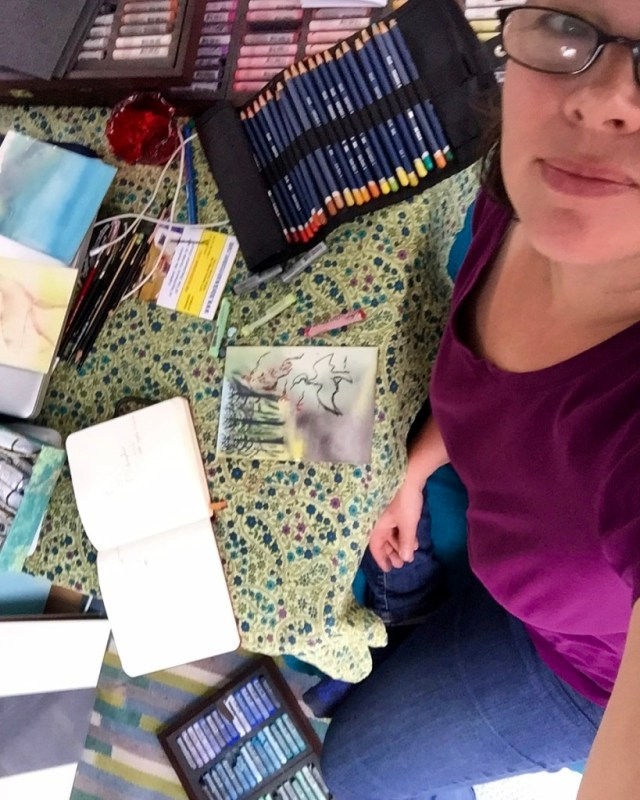 The Lucky Charm: my Shasta Camper is my portable art studio