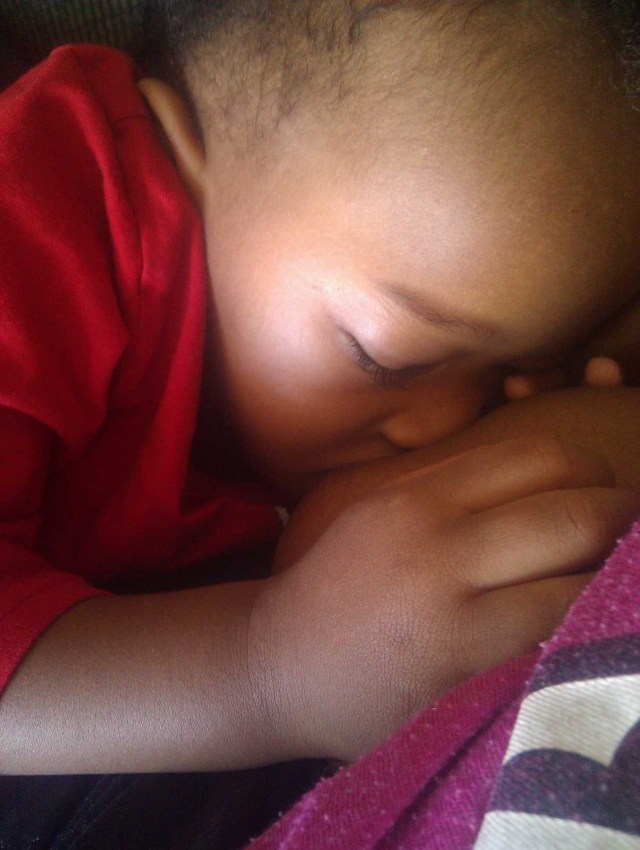 My Son - Samuel. Breastfeeding at 21 months old.
